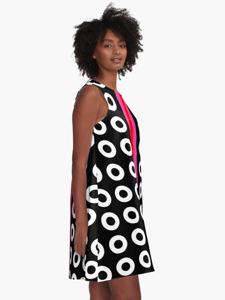 Alternate view of Dots and Stripes A-Line Dress
