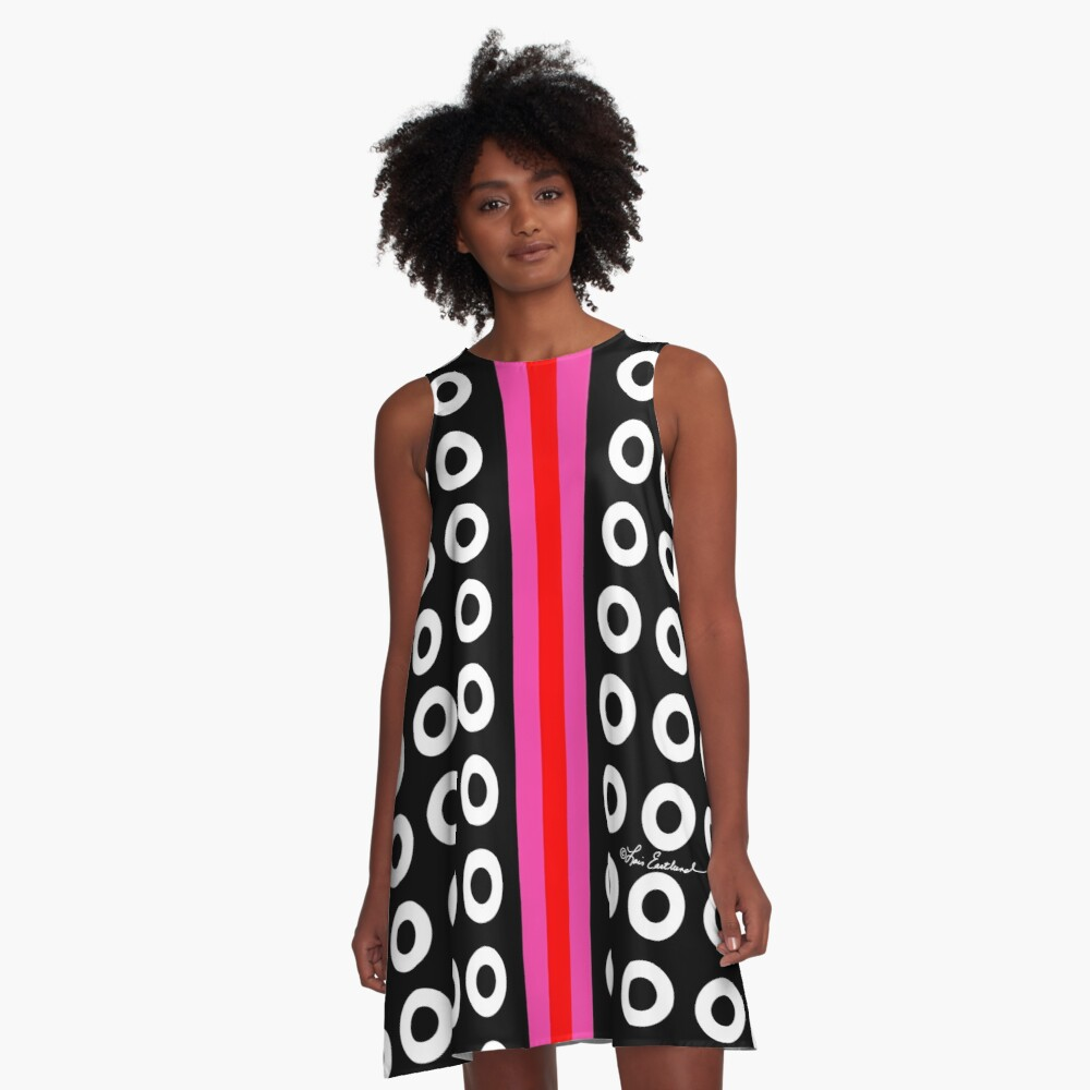 Dots and Stripes A-Line Dress