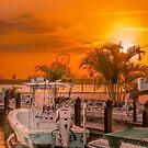 Golden Dockside Sunset by peaceriverphoto