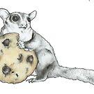 Cookie Loving Sugar Glider by Artidt