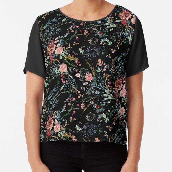 Midnight Floral Chiffon Top