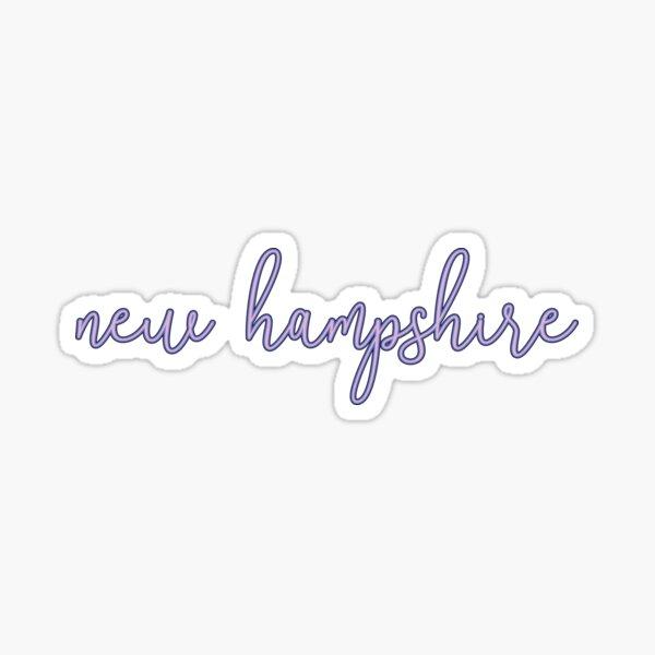 New Hampshire purple script Sticker