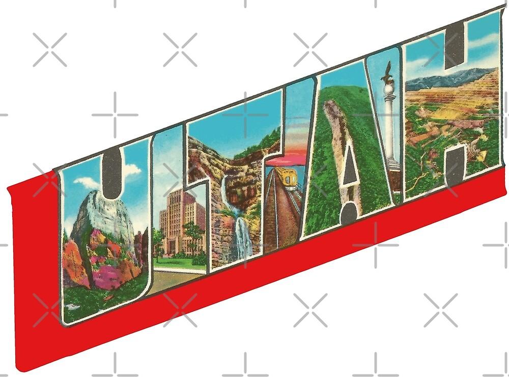 Vintage Big Letters Utah State Souvenir by Colleen Cornelius