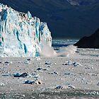 Hubbard Glacier Calving by John Schneider