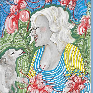 Puppy Love in the garden by Annie18c