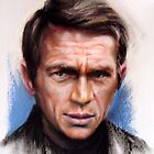 portrait of Steve McQueen by Hidemi Tada