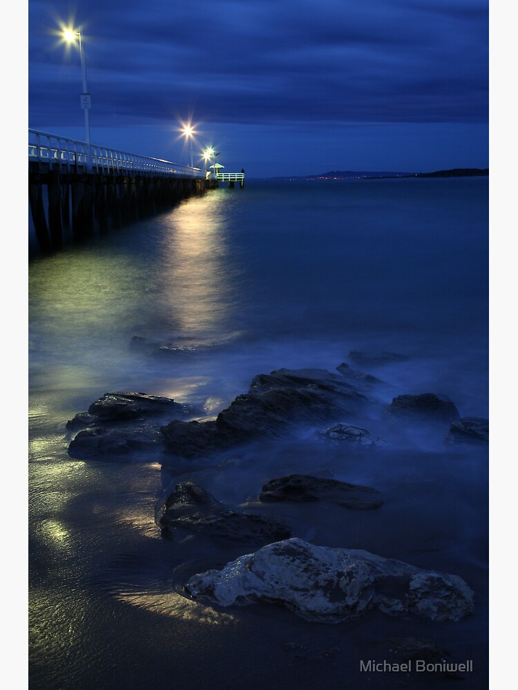 After Dark, Point Lonsdale Pier, Victoria, Australia by Chockstone