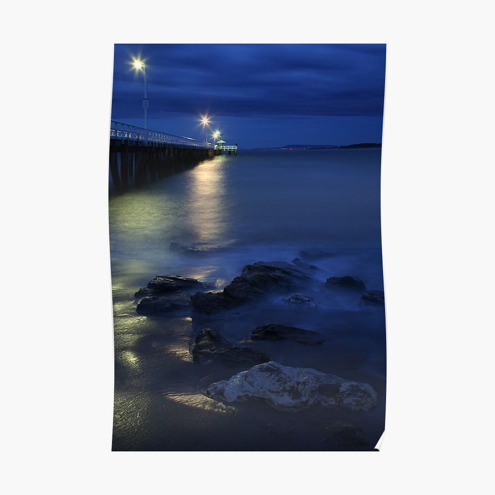 After Dark, Point Lonsdale Pier, Victoria, Australia Poster