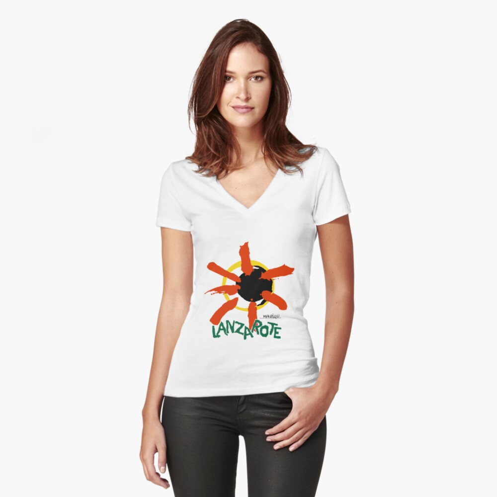 Lanzarote - Large Logo Fitted V-Neck T-Shirt