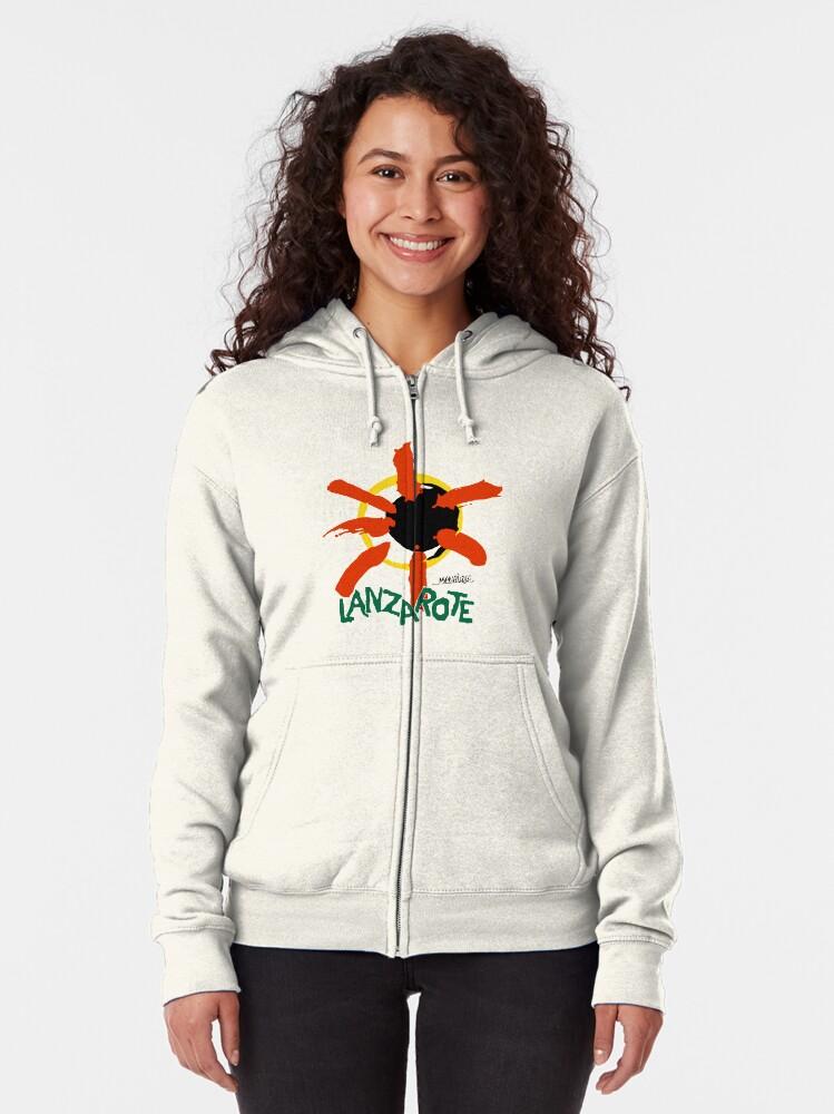 Alternate view of Lanzarote - Large Logo Zipped Hoodie