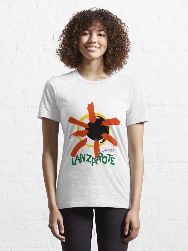 Alternate view of Lanzarote - Large Logo Essential T-Shirt