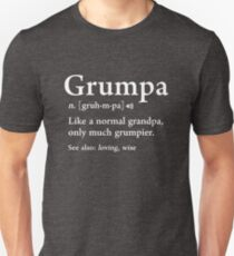 Grumpa Definition Funny Väter Tag Geschenk beste Opa Cool Slim Fit T-Shirt