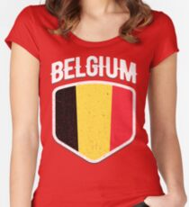 2018 Belgium Flag Soccer TShirt World Football Jersey Cup T Shirt Women s  Fitted Scoop T- 7fb7f9fa7