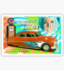 hot rods garage Sticker