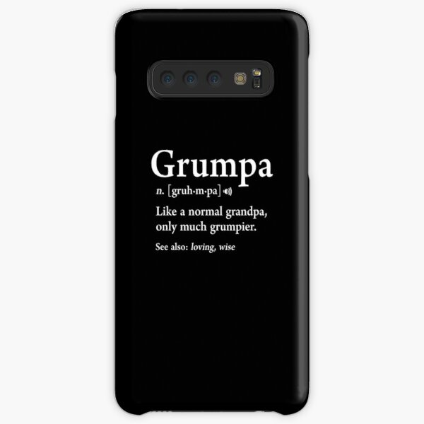 Grumpa Definition Funny Fathers Day Gift Best Grandpa Cool Samsung Galaxy Snap Case