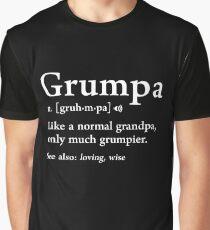 Grumpa Definition Funny Väter Tag Geschenk beste Opa Cool Grafik T-Shirt