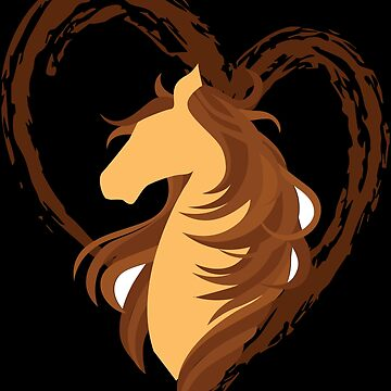 Horse Lover Heart Love for Horses Gift by BUBLTEES