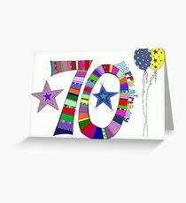 70. Geburtstag Bunte Luftballons Happy 70 Grußkarte