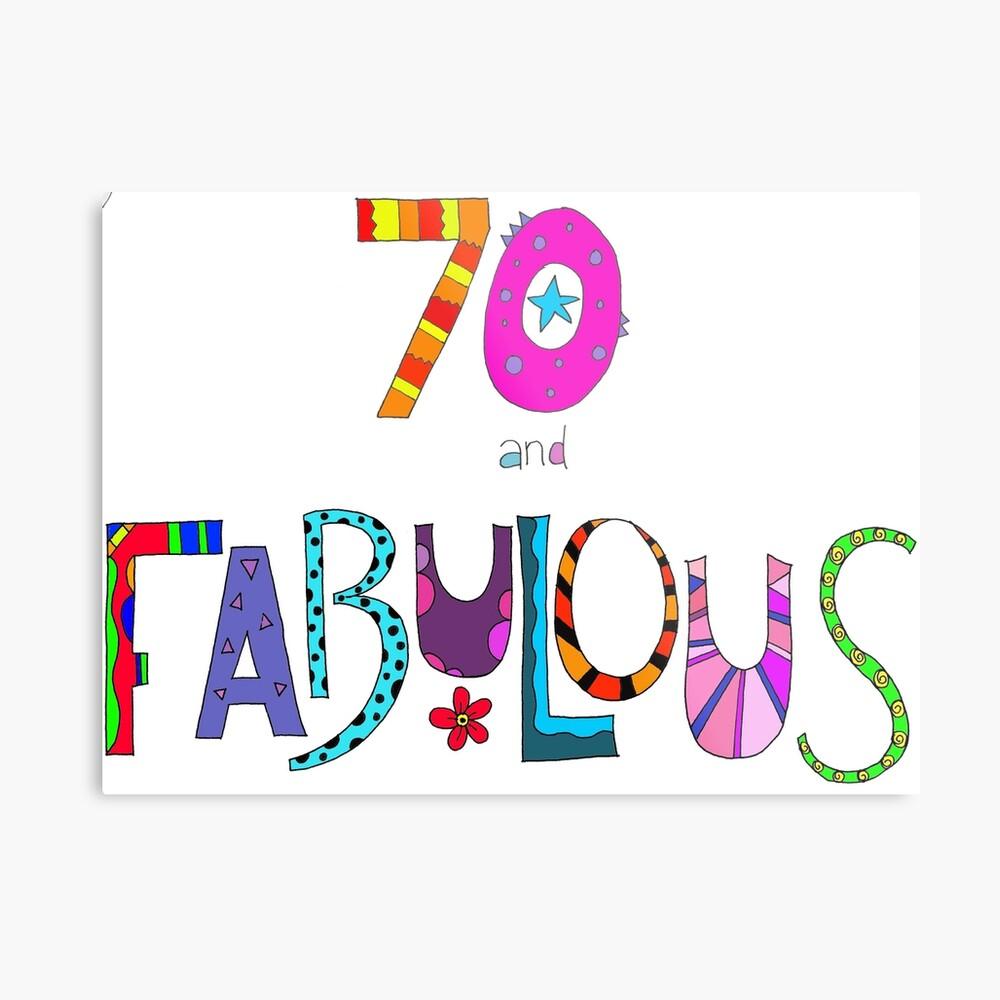 70 und fabelhafter 70. Geburtstag Bunter Entwurf Metallbild