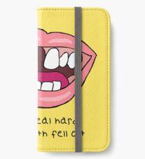 Fördern Sie die Leute, zahlen Sie den Mannlyrik iPhone Flip-Case/Hülle/Skin