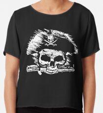 Pirates Adventure Mallorca Merchandise Skull Black Chiffon Top