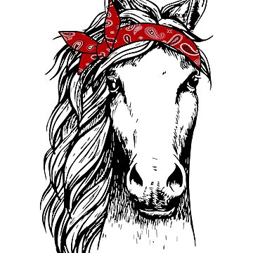 Horse Bandana for Horseback Riding Horse Lover by BUBLTEES