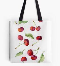 Watercolor  cherry. Raster illustration. Tote Bag
