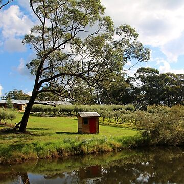Little red pump house at Yerrinbol, NSW by LozzaElizabeth