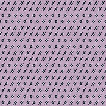 Shirt pattern. Tiny diamonds on lilac by ElysiumDesign