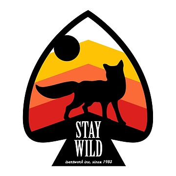 Stay Wild Fox Logo by diekleineisa