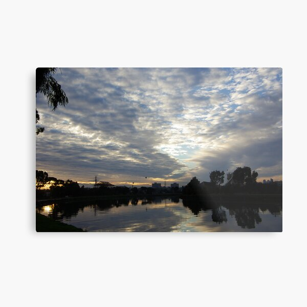 Maribyrnong River Sunrise Metal Print