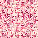 Organic Pink Fruity Fling Abstract by Nic Squirrell