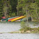 Colourful Canoes by HoneyMyrtle