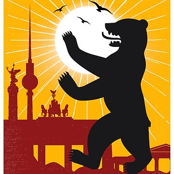Berlin vintage poster travel by paulrommer