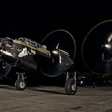 Lancaster B.VII NX611 night taxy run by oscar533