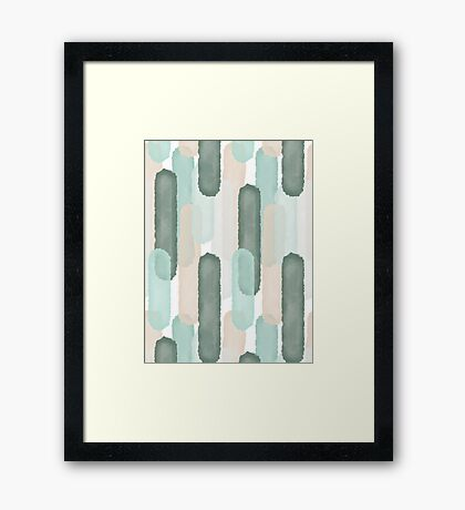 Relief #redbubble #abstractart Framed Print