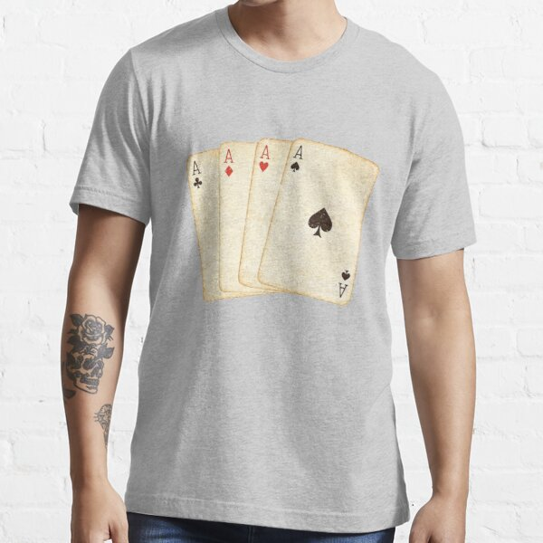 Winning Hand of Four Aces Playing Cards Essential T-Shirt