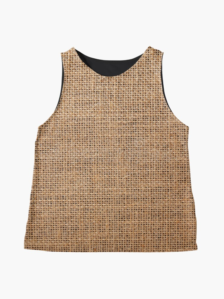 #Wicker, #roughlinen, #burlap, #sackcloth, sacking, bagging, холст, scrim, cloth, crash, власяница, hairshirt, haircloth, мешковина: Sleeveless Top