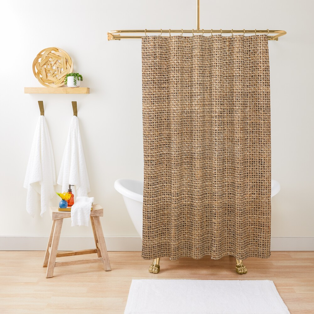 #Wicker, #roughlinen, #burlap, #sackcloth, sacking, bagging, холст, scrim, cloth, crash, власяница, hairshirt, haircloth, мешковина, Shower Curtain, #ShowerCurtain