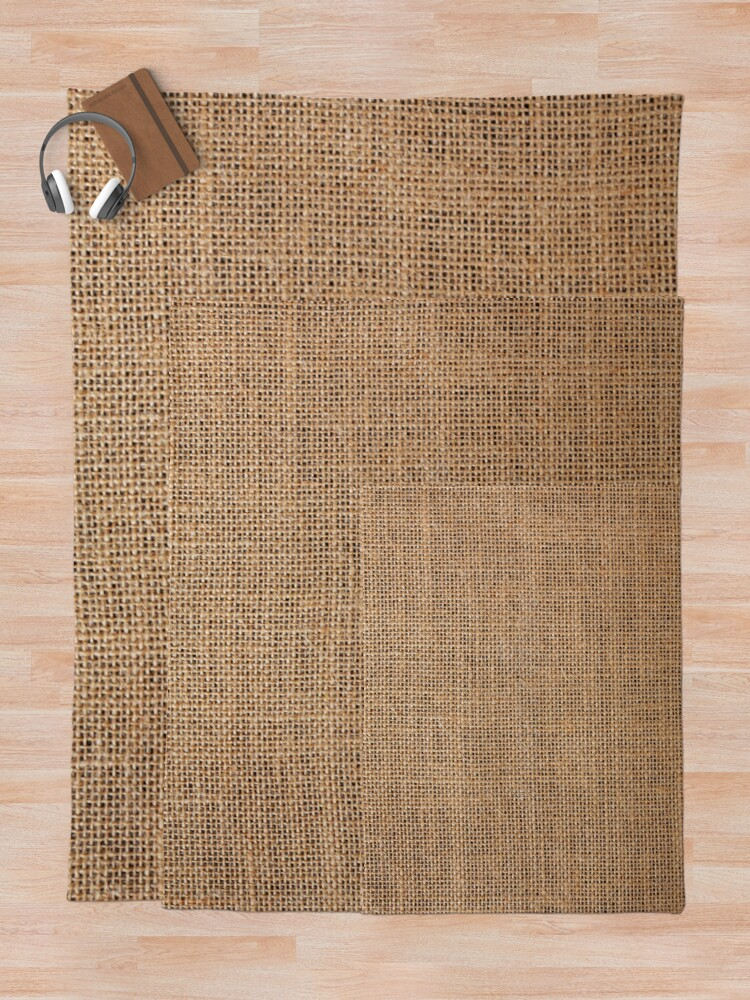 Alternate view of #Wicker, #roughlinen, #burlap, #sackcloth, sacking, bagging, холст, scrim, cloth, crash, власяница, hairshirt, haircloth, мешковина Throw Blanket