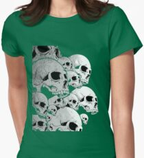 Skulls incoming - Left Womens Fitted T-Shirt