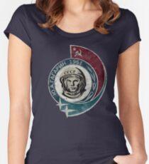 CCCP Yuri Gagarin 1961 Tailliertes Rundhals-Shirt