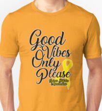 Good Vibes Only Please! Spina Bifida Awareness Unisex T-Shirt