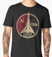 CCCP Rocket Emblem  Men's Premium T-Shirt