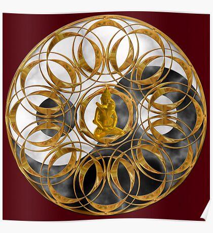 Tantric Balance Mandala Poster