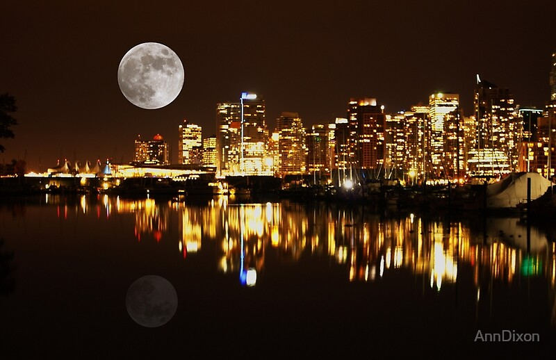 Quot Vancouver At Night Canada Quot By Anndixon Redbubble