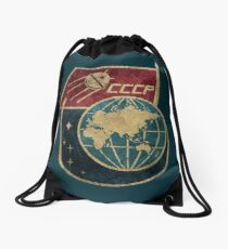 CCCP Flag Satellite Drawstring Bag