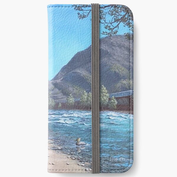Stop by the river iPhone Wallet