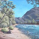 Stop by the river by Patrick Ezechiele Art