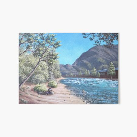 Stop by the river Art Board Print